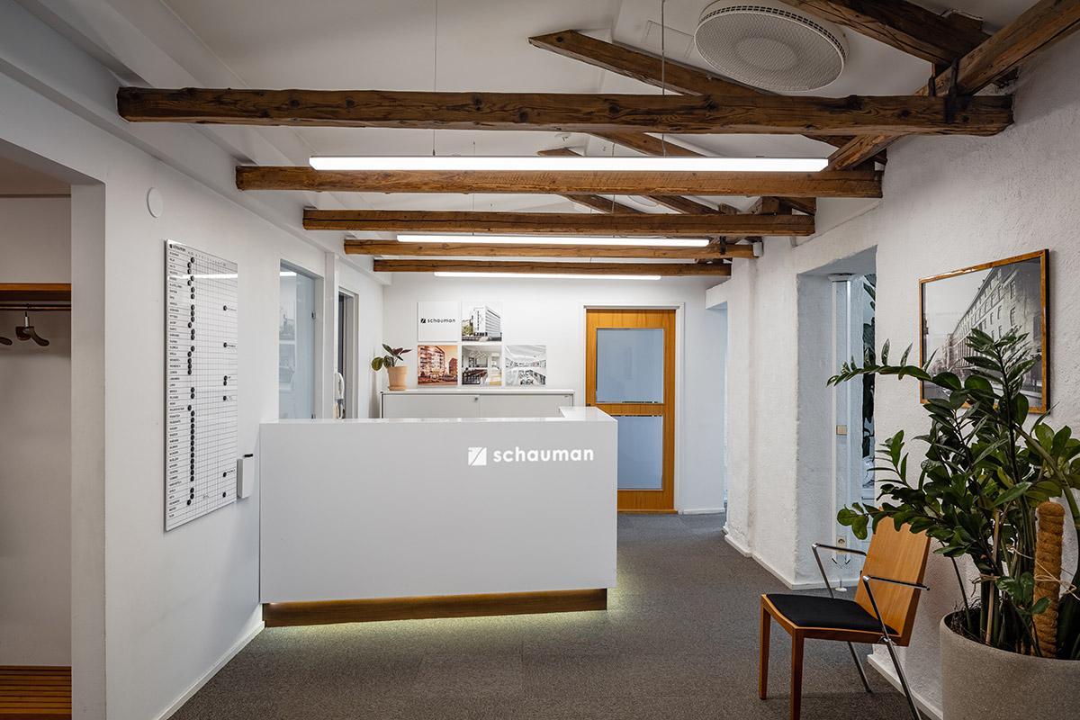 KT Interior referenssi, Schauman arkkitehtitoimiston valaistus.