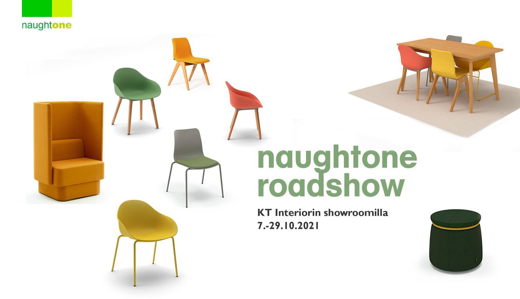 Naughtone Roadshow, KT Interiorin showroomilla lokakuussa 2021. Ilmoittaudu mukaan!
